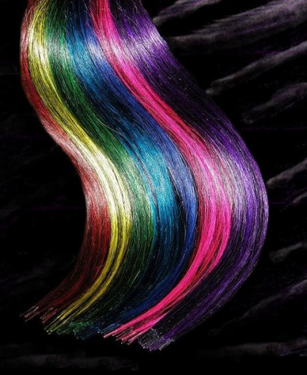 Bicolor Rundbonding Extensions Crazy-Black 20 Stk in 40cm