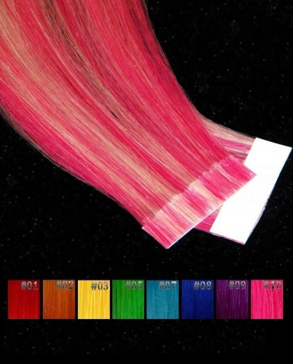Bicolor Tape Crazy Blond  2 Stk in 50cm