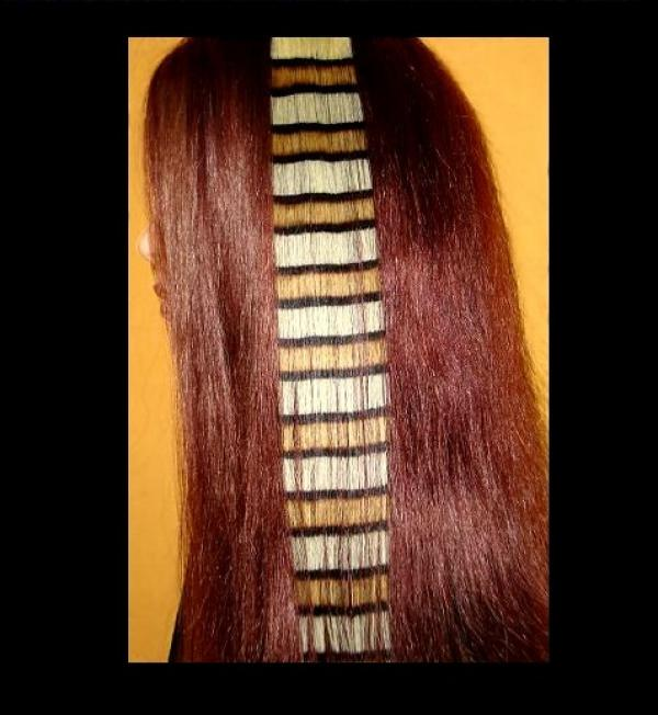 Coontail Clip-in-Extensions Gestreift Braun 40x04