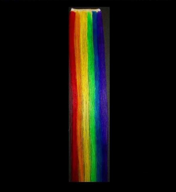 "Coontail Clip-in-Extensions Gestreift ""Rainbow"" 35x3,5"