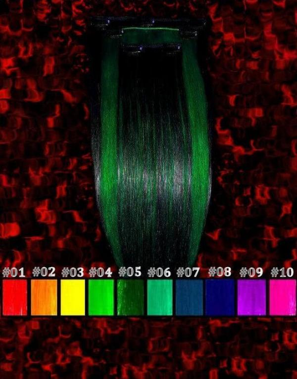 CrazyColor Clip-in-Extensions 50x15cm