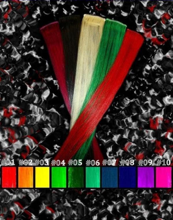 CrazyColor Clip-in-Extensions 60x04cm