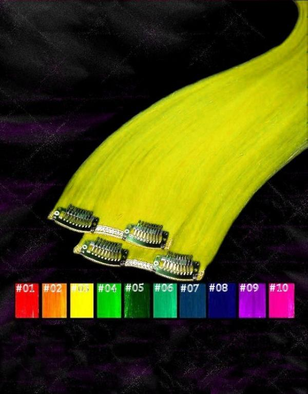 CrazyColor Clip-in-Extensions 60x08cm