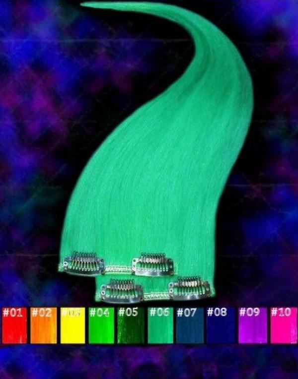 CrazyColor Clip-in-Extensions 70x10cm