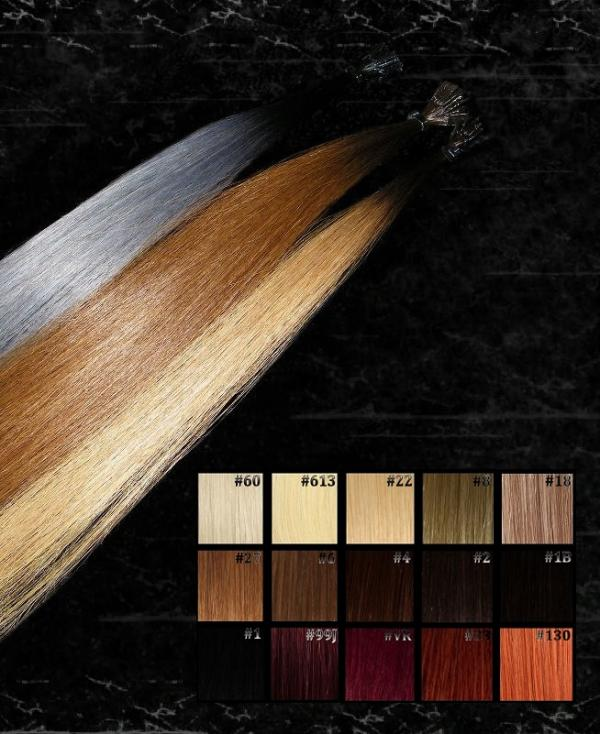 Dark Roots Ombre Flachbonding Extensions  10 Stk in 60cm