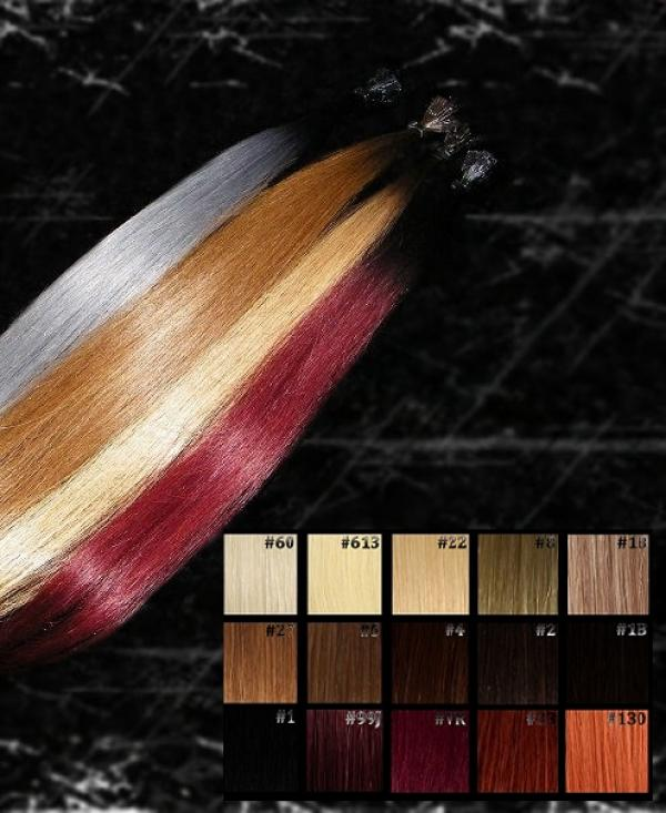 Dark Roots Ombre Flachbonding Extensions 20 Stk in 60cm