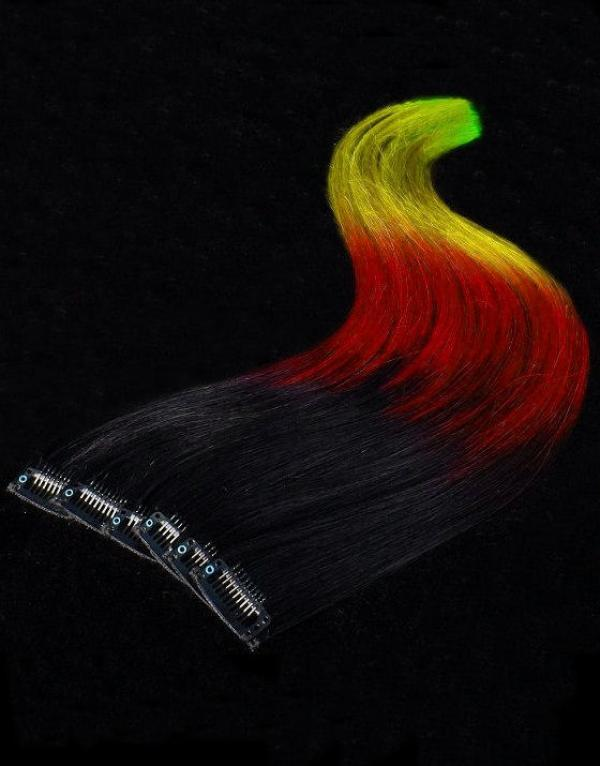 Dip Dyed Clip Extensions multicolor 50x20