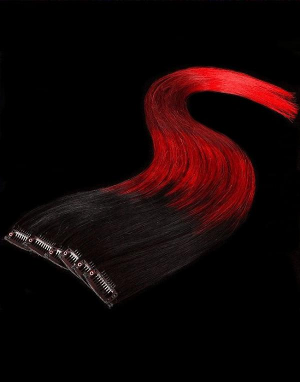 Dip Dyed Hair Clip-in-Extensions 40x15