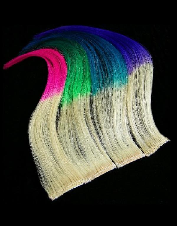 Dip Dyed Hair Clip-in-Extensions 50x04