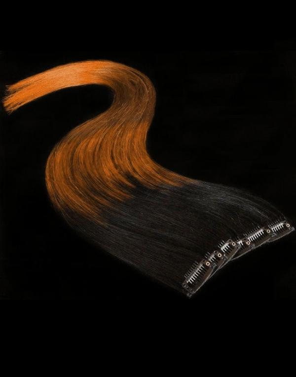 Dip Dyed Hair Clip-in-Extensions 60x04