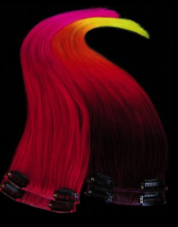 Dip Dyed Hair Clip-in-Extensions multicolor 50x10