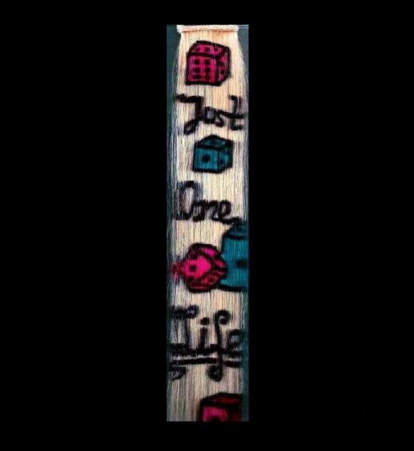 "Hair Tattoo Clip Extension ""Just One Life"" 35x5"