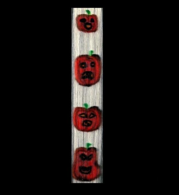 "Hair Tattoo Clip Extension ""Pumpkins"" 35x4"