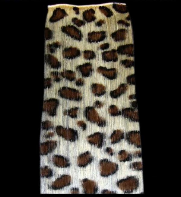 Leopard Clip-in-Extensions Braun 40x10