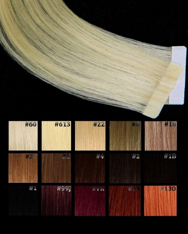 Tape Extensions Natur Nuancen  2 Stk in 40cm