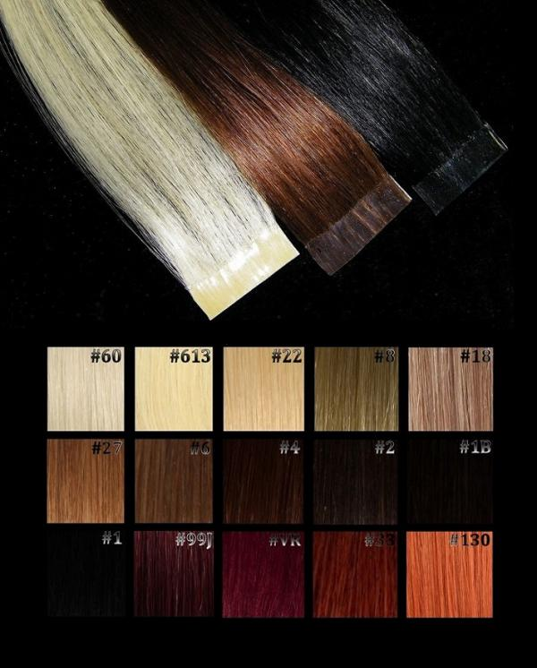 Tape Extensions Natur Nuancen  2 Stk in 50cm