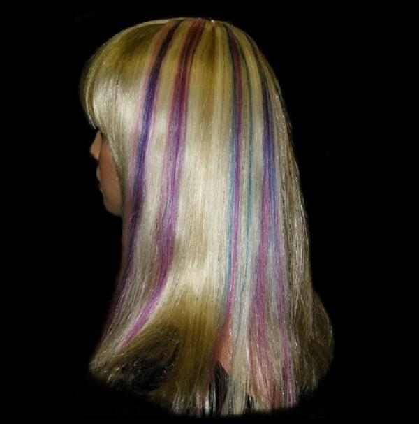 Tricolor Echthaar Clip-in-Extensions Crazy-Blond 40x04